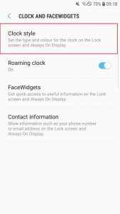 Как включить ночные часы на Galaxy S7 edge