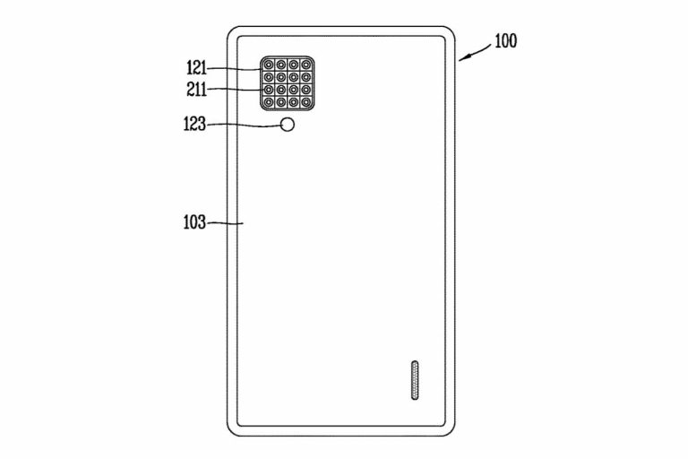 Патент LG на смартфон с 16 камерами
