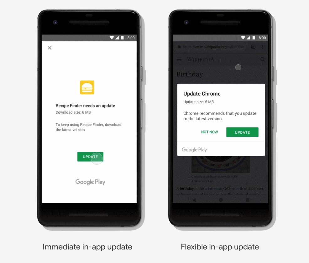 Обновление приложения Android
