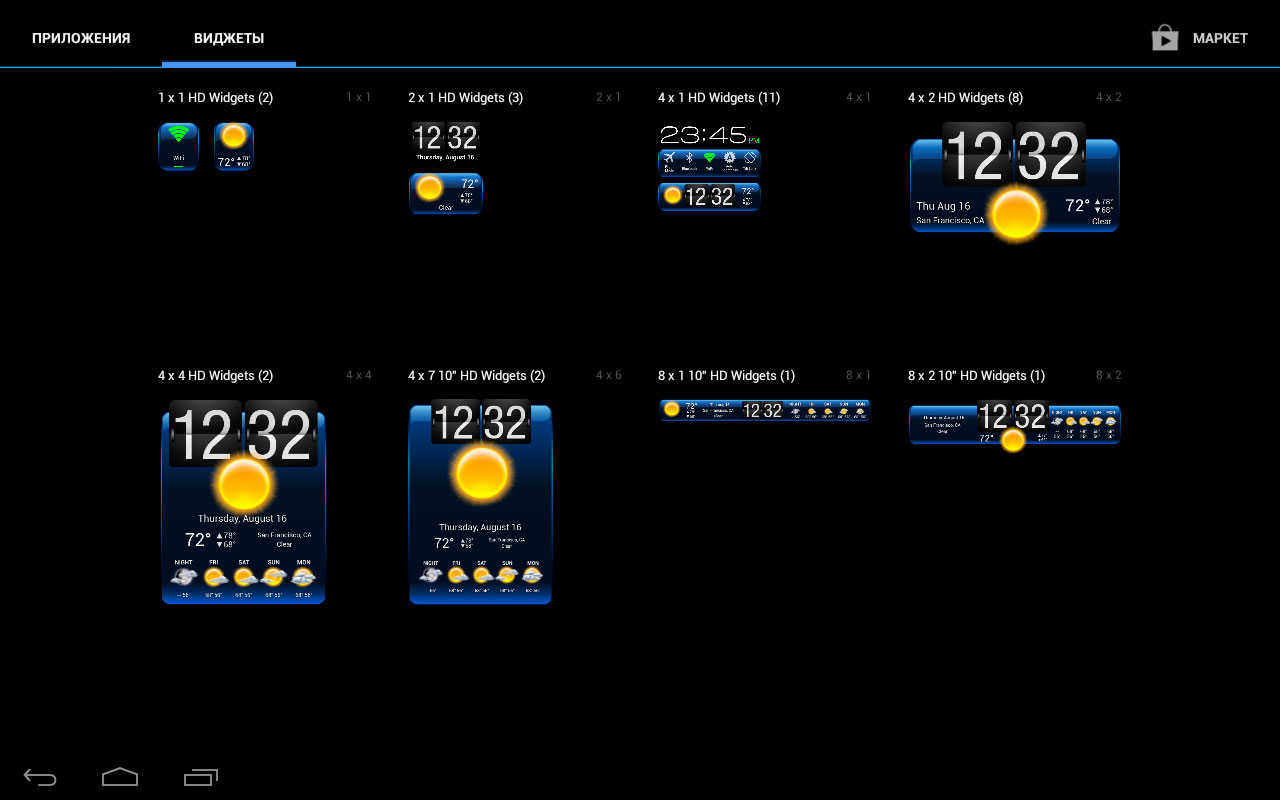 Погода на экране. Лучшие виджеты
