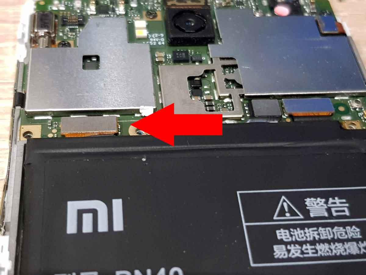Подключение аккумулятора Xiaomi Redmi 4
