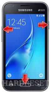 hard reset Samsung J1 mini (2016)