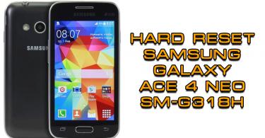 Hard Reset Samsung G318H (Galaxy Ace 4 Neo)