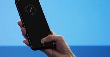 Сканер отпечатков пальцев на дисплее смартфона Samsung