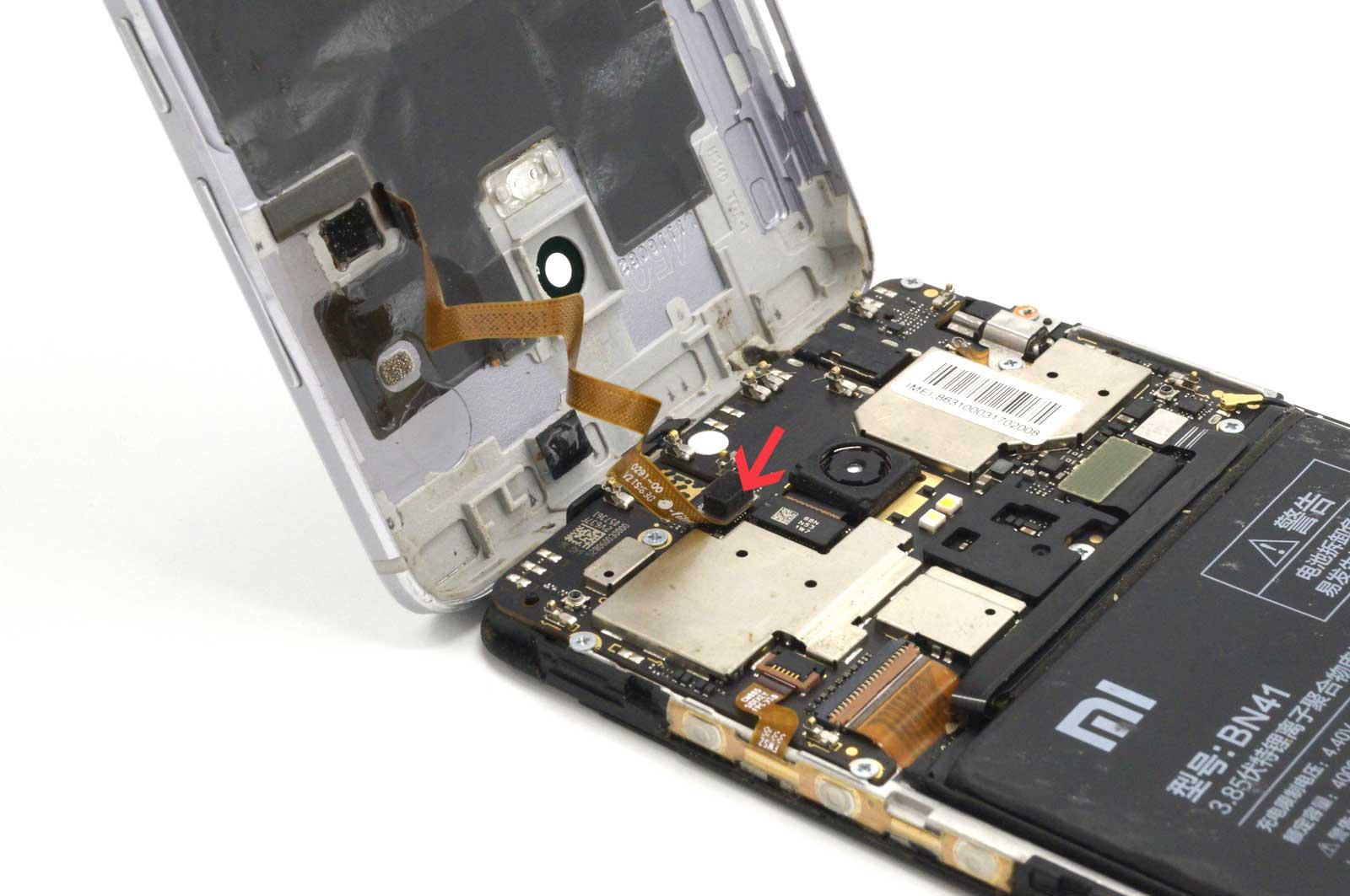 Снятие задней крышки Xiaomi Redmi Note 4