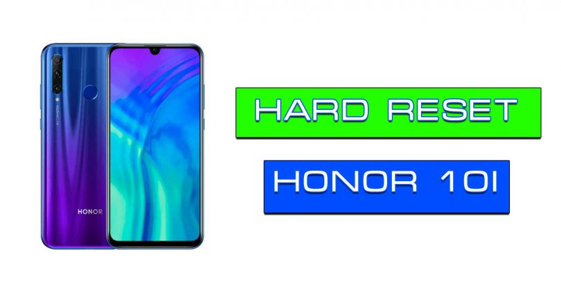 Honor 10i сброс через рекавери